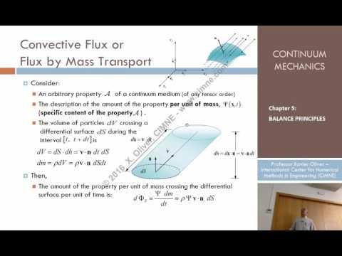 Continuum Mechanics - Ch 5 - Lecture 2 - Convective Flux or Flux by Mass Transport