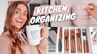 organizing my kitchen!! (aesthetic amazon kitchen finds)