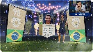 RONALDO EL FENOMENO IN A PACK !!! 10 PACK ICON GARANTITI [FIFA 18]