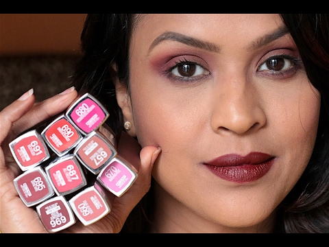 9 Maybelline Creamy Matte Lipsticks Lip Swatches