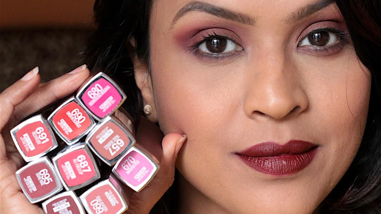 9 Maybelline Creamy Matte Lipsticks Lip Swatches Youtube