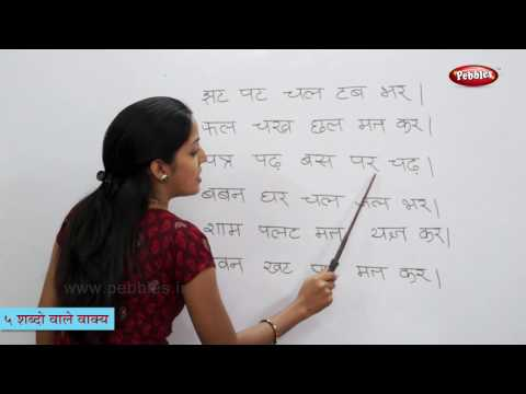 Reading Hindi Sentences Having Five Words   हिन्दी
