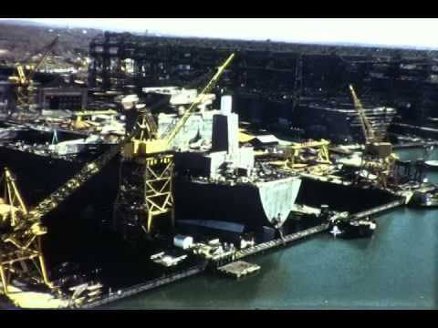 F 1598 General Dynamics Quincy Ship Building Footage