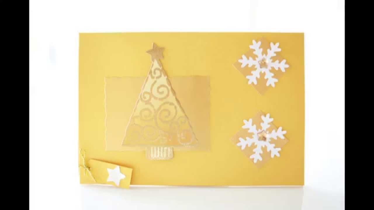 Weihnachtskarte ideen bastelanleitung weihnachtskarte - Weihnachtskarten erstellen ...