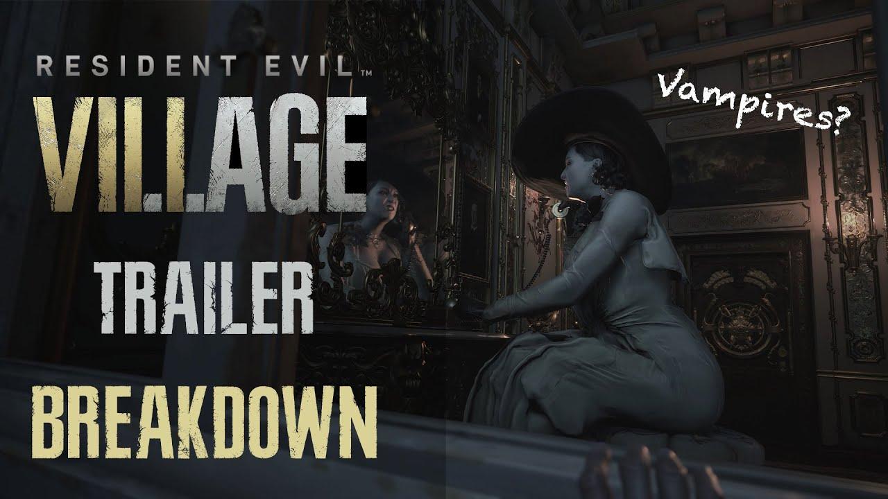Resident Evil 8 Village New Trailer Breakdown Vampire Theory Merchant Youtube