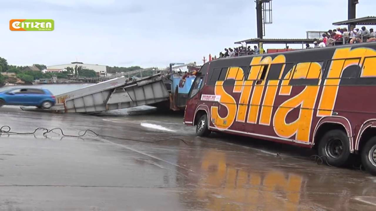 Heavy traffic at the Likoni ferry after passenger bus stalled
