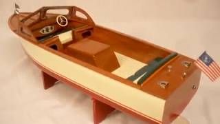 ITO 18in LYMAN INBOARD TOY WOOD BOAT BY R-C CRAFT
