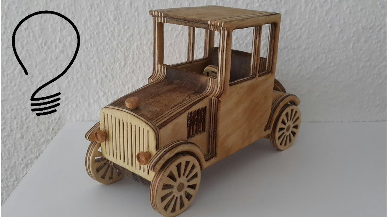 wooden toy car ford model t youtube
