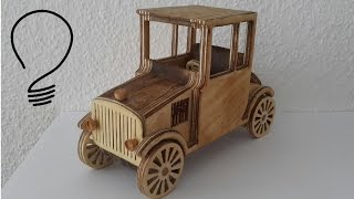 This old style car is a great toy but also nice decoration. I