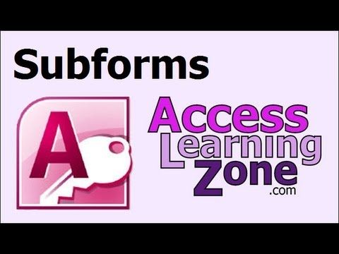 Download Microsoft Access Form with a SubForm Tutorial