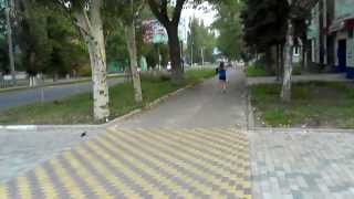 Gorlovka, Komsomolskaya street, Горловка, улица Комсомольская, 12.08.2013, 19:47(, 2013-08-12T20:54:15.000Z)