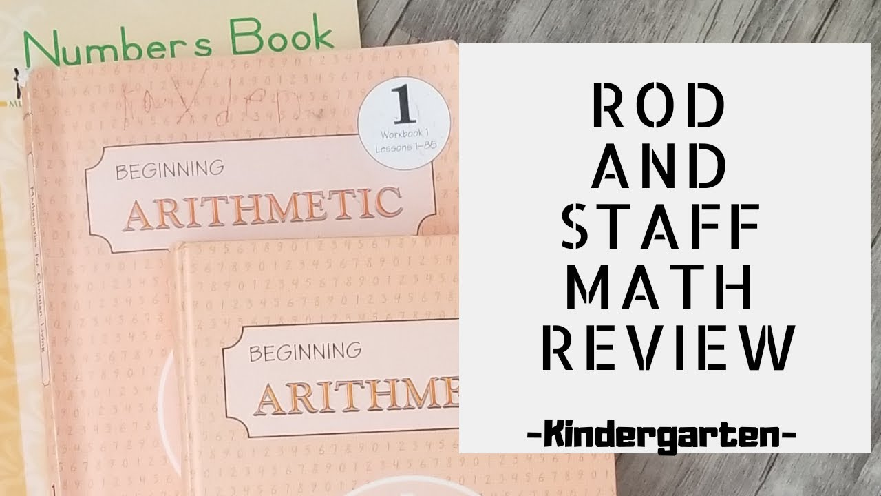 Rod and Staff Math Review- Kindergarten - YouTube