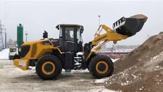 Смотреть видео Погрузчик LiuGong CLG 855H на бетонном заводе в Москве онлайн