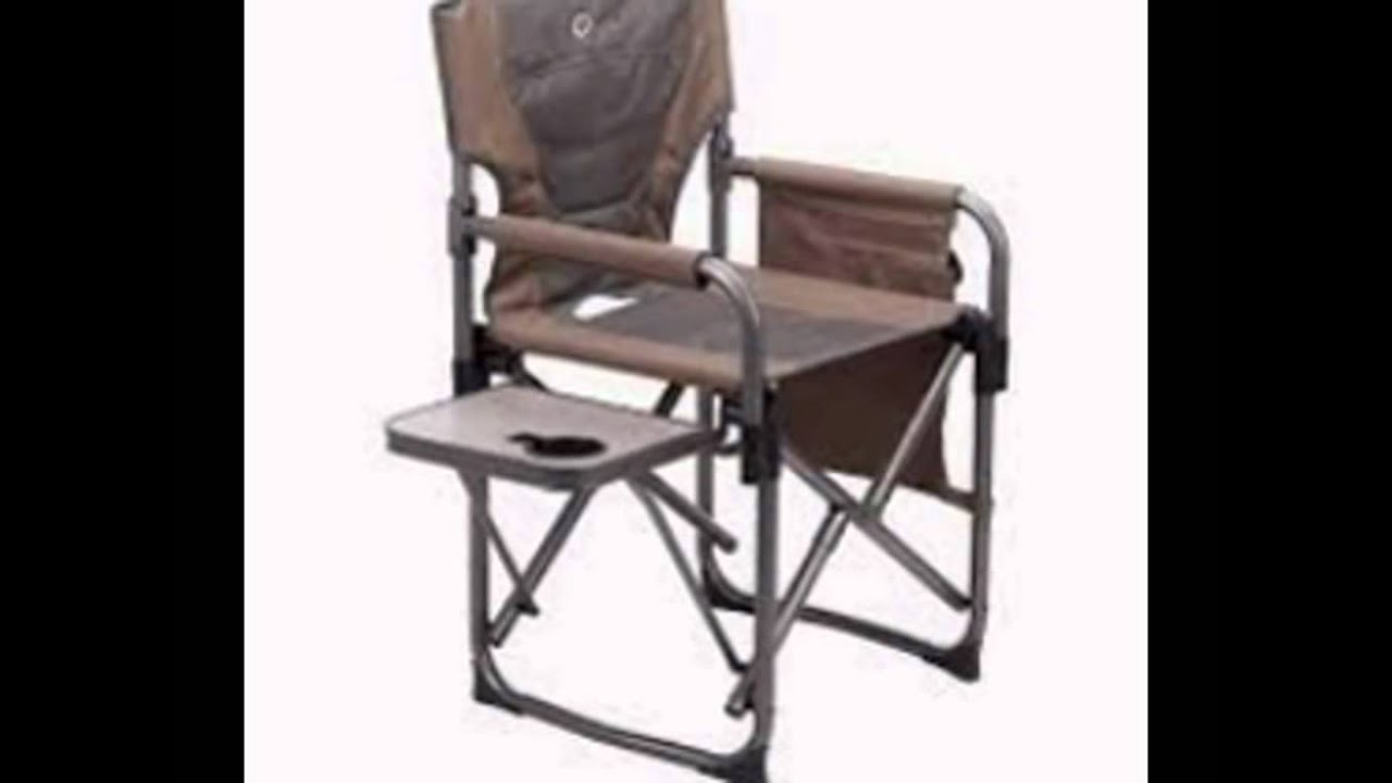 Folding Chair With Side Table Covers And Sashes Rental Directors Chairs Youtube