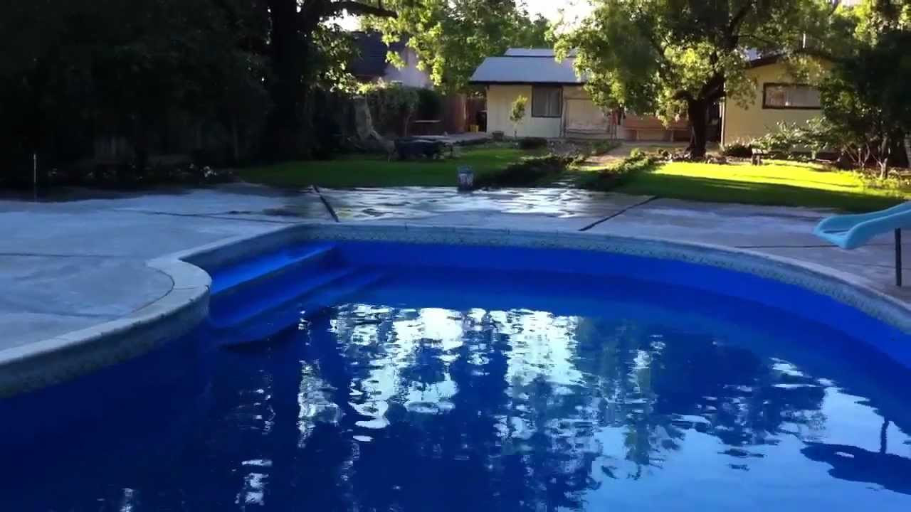 Royal Blue Swimming Pool Paint Youtube
