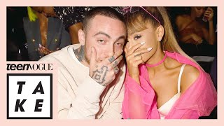 ariana grande mac miller and blaming women for mens actions teen vogue take