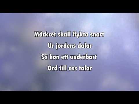 Sankta Lucia (Natten går tunga fjät) karaoke - lyrics
