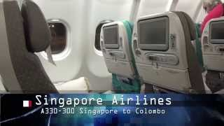 Singapore Airlines Economy, Singapore to Colombo