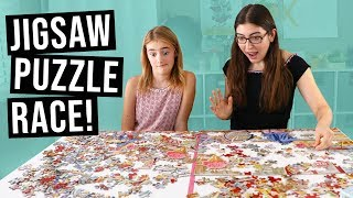 Racing jigsaw puzzles against an 11 year old! // with Bailey Ballinger