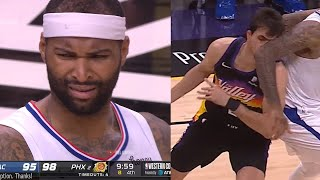 Demarcus Cousins accidentally elbows Saric 👀 Suns vs Clippers Game 1