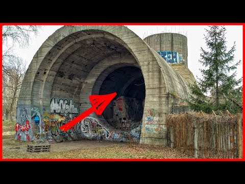 Secret underground railway tunnel. Abandoned tunnel.