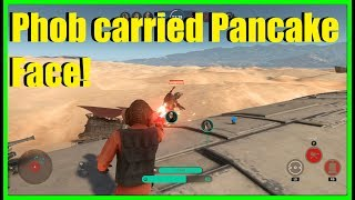 Star Wars Battlefront - Phob carried Pancake Face! | This game was too close!!!