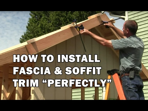 How to Build a Shed - How To Install Fascia Boards & T&G Sof
