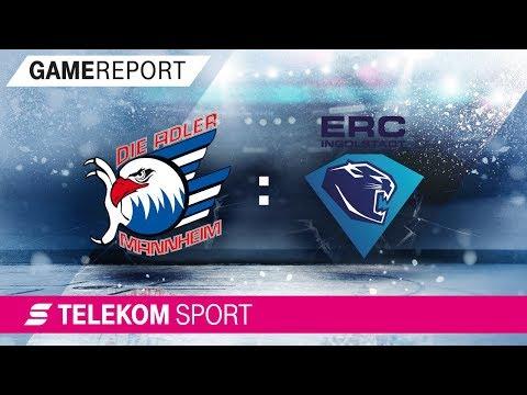 Adler Mannheim - ERC Ingolstadt   Viertelfinale, Spiel 2, 17/18   Telekom Sport