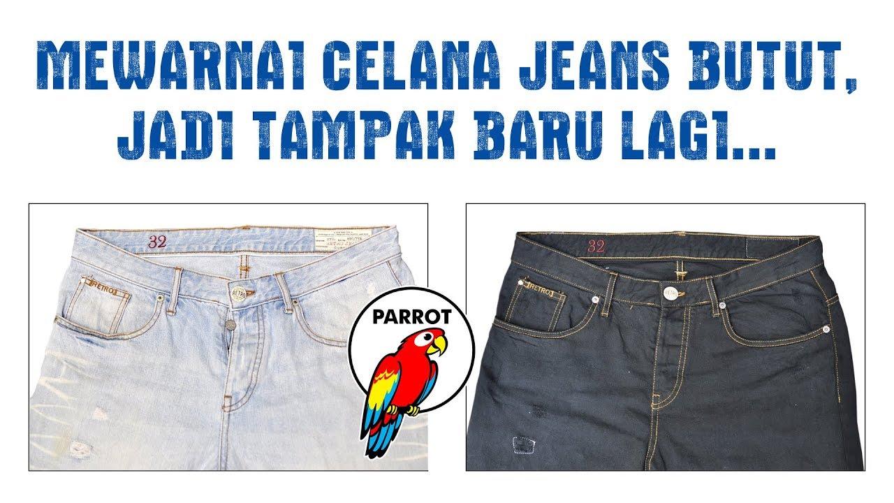Menguji Kualitas Parrot Hot Dye Pewarna Tekstil Pada Celana Jeans