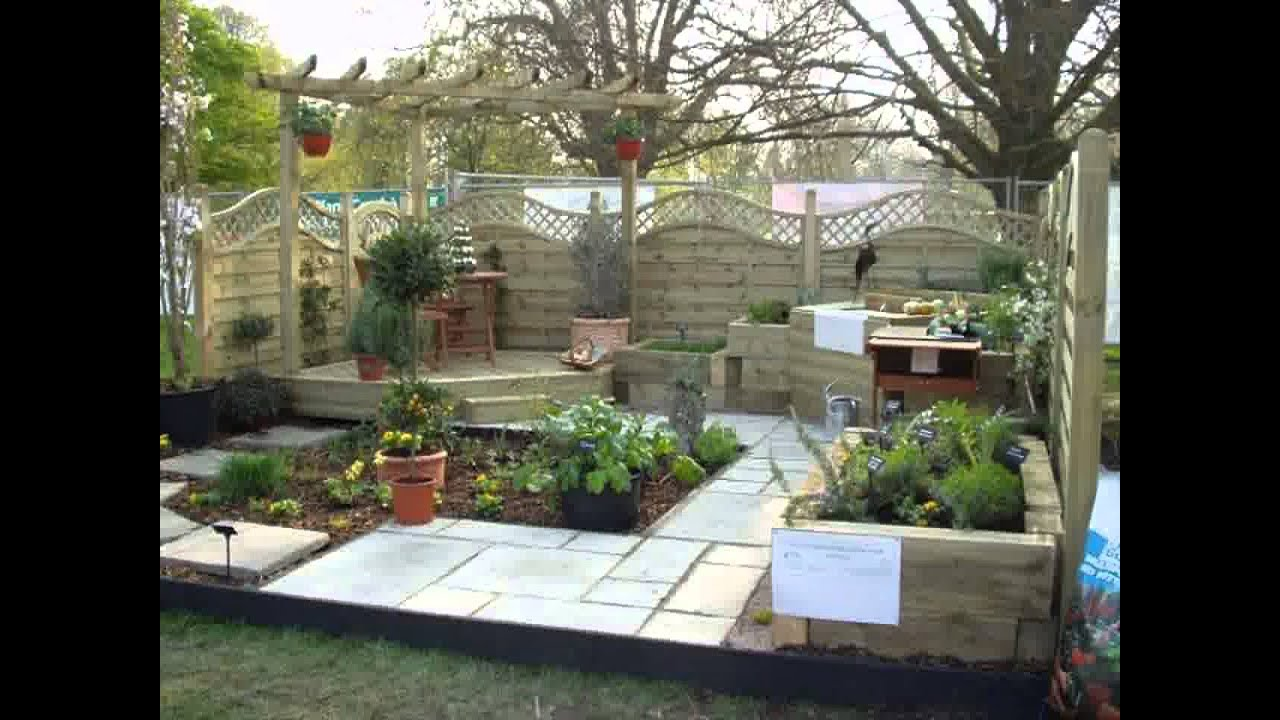 Small Space rectangular garden design - YouTube on Landscaping Ideas For Rectangular Backyard  id=99331