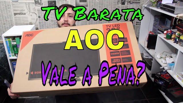 6e9acbcb6e71a TV Barata da AOC 32 Polegadas LED - Vale a Pena  Unboxing e Review -  LED32D1352 - YouTube
