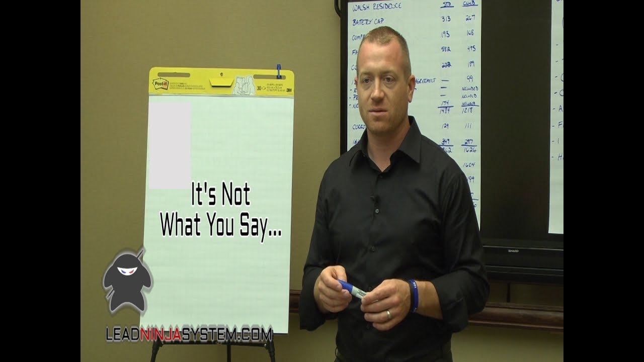 Lead Ninja Sales Training - Mastering Tone and Inflection - YouTube