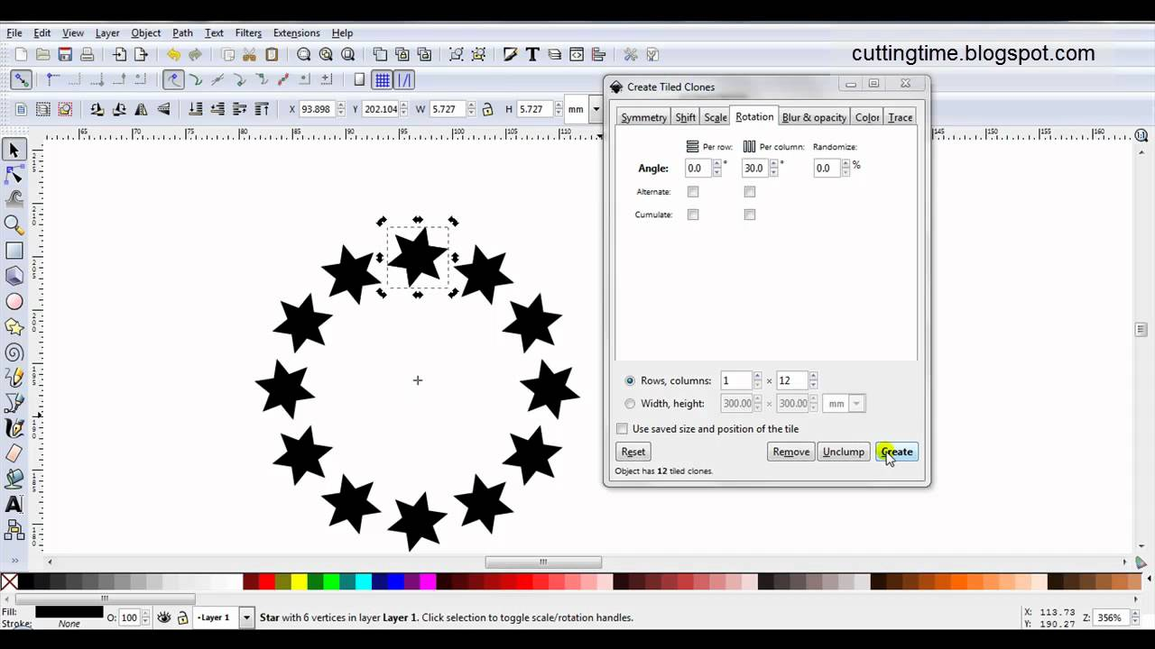 Radial Tiled Clones YouTube - Create tiled image