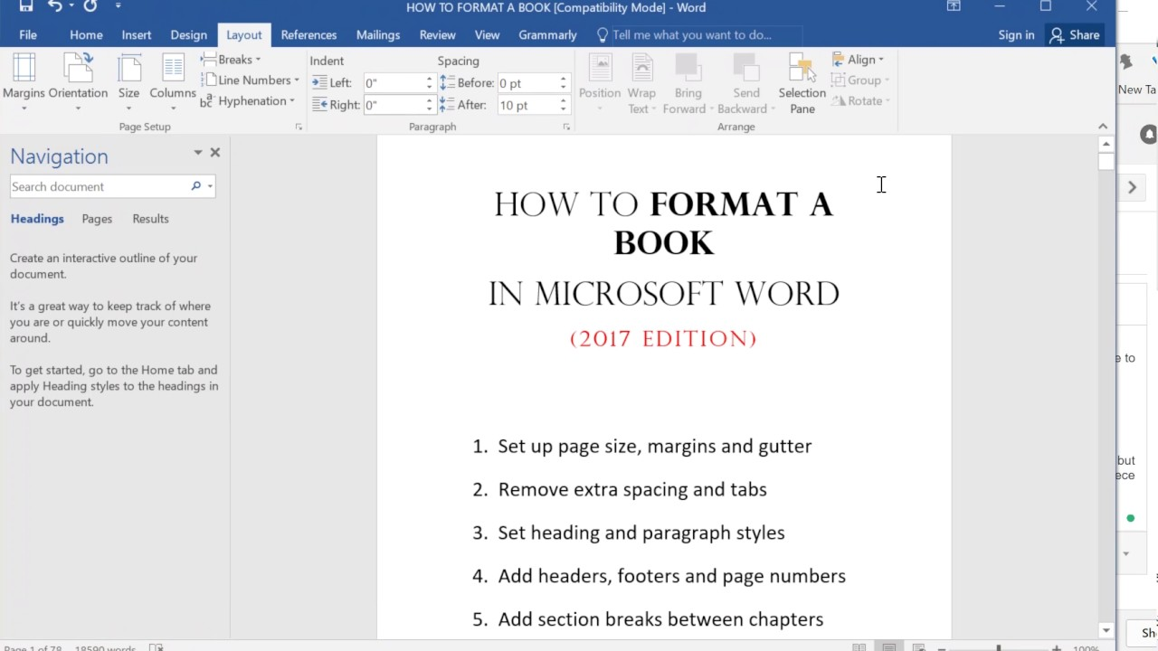 Microsoft word booklet format