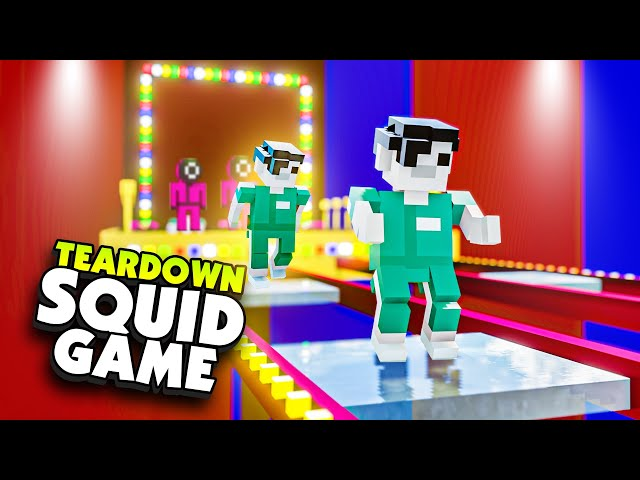 New GLASS BRIDGE SQUID GAME In Teardown! - Teardown Mods