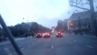 paris champs elysées concorde scooter accident funny