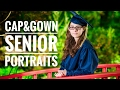 Cap & Gown Portraits on location at the Cherry Blossom Garden in Virginia Beach