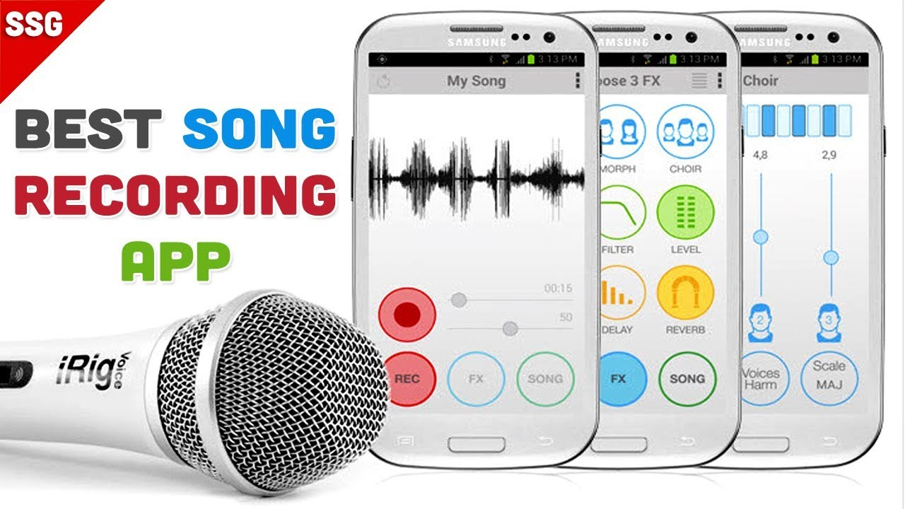 Best android App for Sing a song and best voice changing app