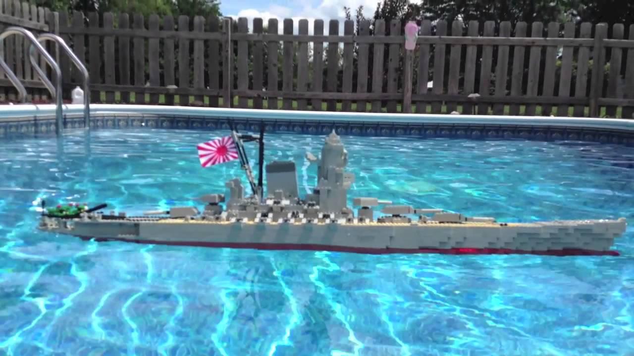 Swimming Pool Sink : Lego battleship yamato model sinking youtube