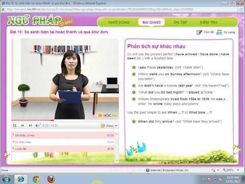 Bài 15: Tiếng Anh Cho Người Mới Học   So S Nh HTHT V  QK