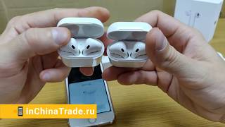 PERFECT Fake AirPods 2 with H1 Chip Review. Лучшая копия Super Copy AirPods 2 vs AirPods 1