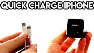 Ricarica veloce iPhone, come? Caricatore 18W + Cavo USB C Lightning di Aukey