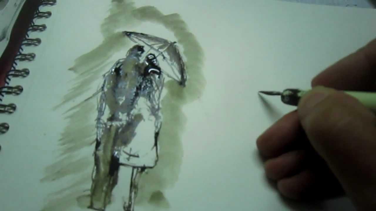 dessiner et peindre  u00e0 l u0026 39 encre de chine