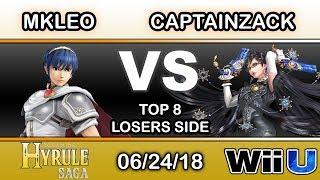 Hyrule Saga - Echo Fox MVG | MKLeo (Marth) Vs. CaptainZack (Bayonetta) Top 8 Losers Side - Smash 4