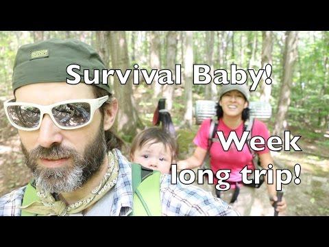 Baby in a Backpack! Week long trip! Wilderness Backpacking Survival hiking trip! Vlog# 65