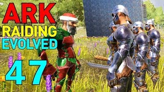 [47] The Honor Guard! Testing Our NPC Army! (ARK Raiding Evolved)