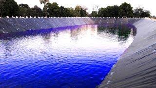 Fresh Water Storage tank construction शेततळे, कृत्रिम शेत तलाव, मत्स्यशेती