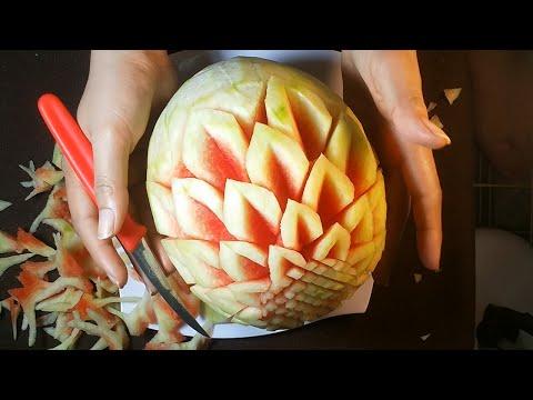 Art Of Watermelon Carving For Beginners - Fruit & Vegetable Design & Decoration