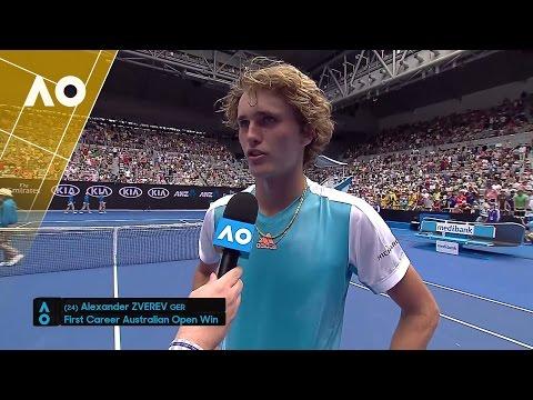 Alexander Zverev on court interview (1R) | Australian Open 2017
