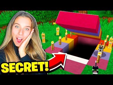 I FOUND MY GIRLFRIEND'S SECRET CAT MINECRAFT HOUSE!